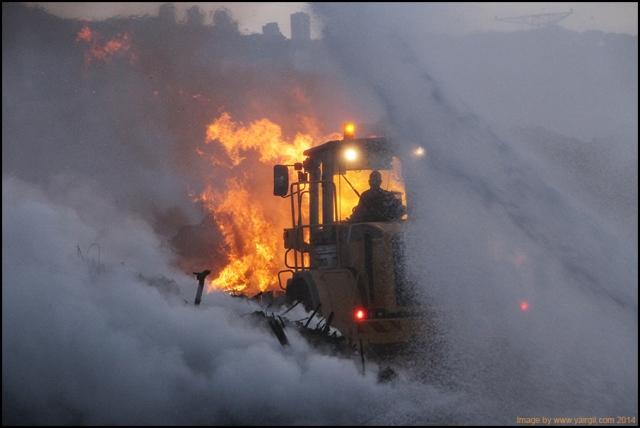 שריפה במזבלה 2014